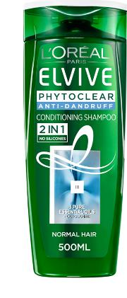 L'oreal Paris  Phytoclear Anti Dandruff 2in1 Conditioning Shampoo 500ml