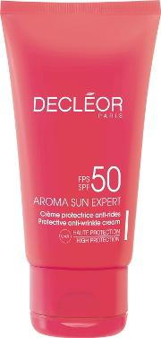 Decleor Aroma Sun Expert Protective Anti Wrinkle Cream For  Spf50 50ml