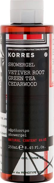 Vetiver Root, Green Tea And Cedarwood Showergel 250ml Fr