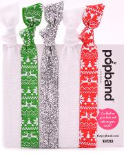 Popband  'christmas Jumper' Hair Ties Multi Pack