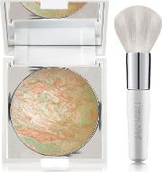 Cid Cosmetics I Glow Compact Shimmer Powder With Mirror 9g With Free Small Powder Brush