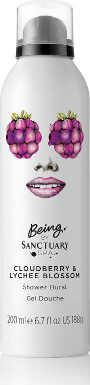Being By  Spa Cloudberry & Lychee Blossom Shower Burst 200ml