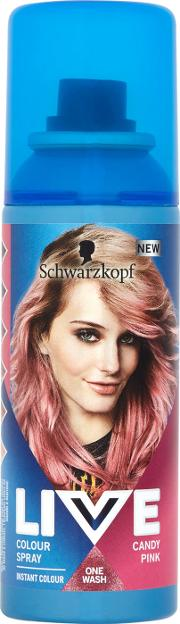 Live Colour Spray Temporary Candy Pink 120