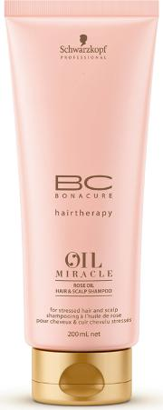 Professional Bc Bonacure Rose Oil Hair & Scalp Shampoo 200ml