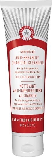 First Aid Beauty  Rescue Anti Breakout Charcoal Cleanser 142g
