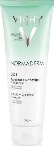 Normaderm 3 In 1 Scrub Cleanser & Mask 125ml