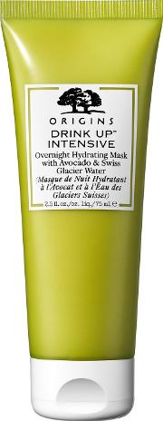 Origins Drink Up Intensive Hydrating Overnight Mask With Avocado & Swiss Glacier  75ml