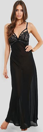 Black Dahlia Long Nightgown