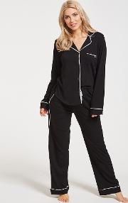 New Signature Long Sleeved Top & Pant Pj