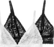 Sonia 2 Pack Lace Bralette