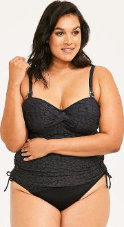 Montreal Underwired Twist Front Tankini Top