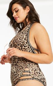 Miami Halter Neck Animal Print Swimsuit