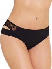 Icon Spot Mesh Black Split Side Bikini Brief