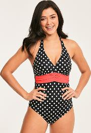 Tuscany Spot Underwired Tummy Control Swimsuit D Gg Cup