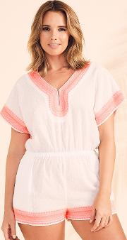 Textured Spot Cotton Playsuit