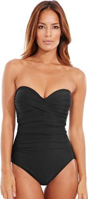 Must Haves Barcelona Underwired Firm Control Bandeau Swimsuit