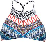 Dream Zig Zag Cut Out High Neck Bikini Top
