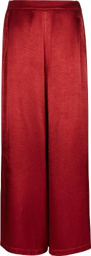 Ailie Deep Red Satin Trousers