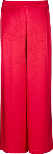 Ailie Shocking Pink Satin Trousers