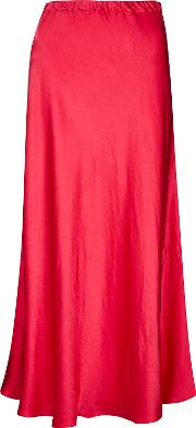 75b812b50 Alberte Shocking Pink Satin Midi Skirt. finery london