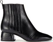 Beasing Black Leather Ankle Boot