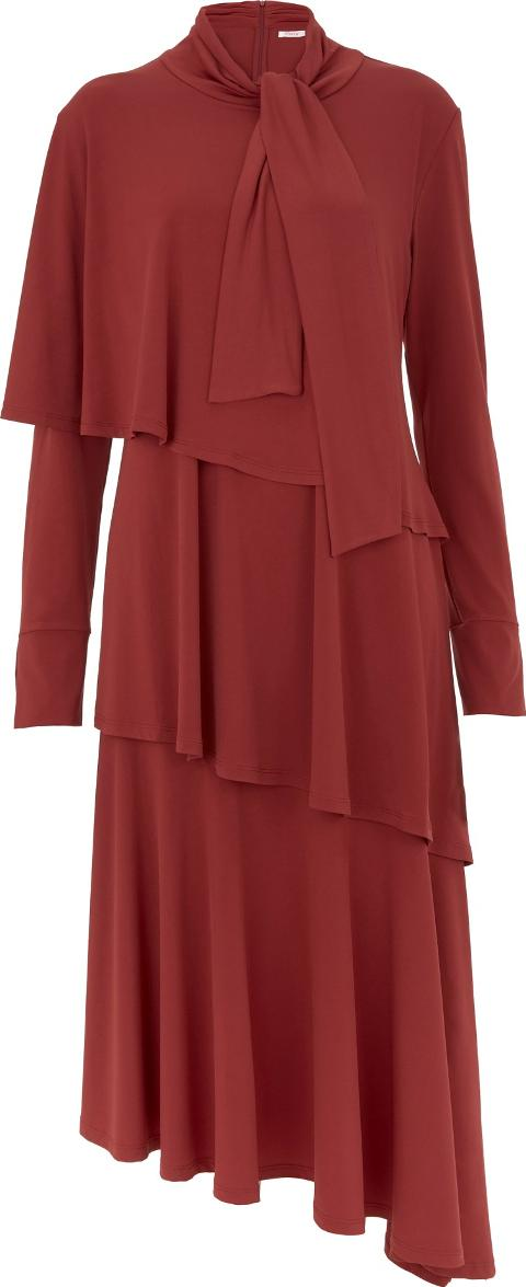 Clarendon Brick Red Layered Jersey Dress Finery ClzquOP