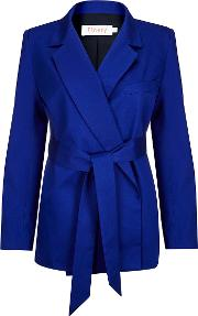 Netley Royal Blue Belted Jacket