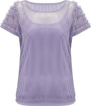 Seabright Mesh Frill Detail Jersey Tee