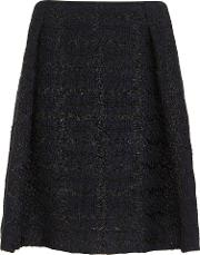 Shenly Black And Navy Provence Woven Skirt