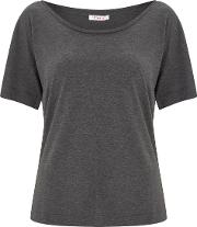 Snowdon Charcoal Soft Touch Jersey Tee