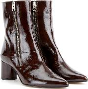 Stephanie Leather Mid Height Boot