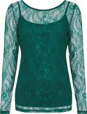 Windsor Lace Jersey Top