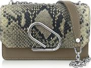 Animal Printed Leather Alix Chain Clutch