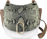 Animal Printed Leather Alix Hunter Shoulder Bag
