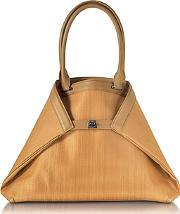 Ai Small Camel Horsehair Tote Bag