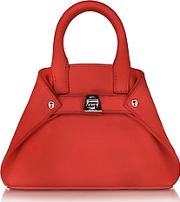 Scarlet Leather Micro Ai Crossbody Bag