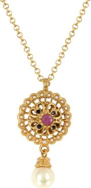 Mandala Necklace Wpearl & Gemstones