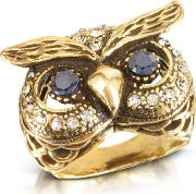 Owl Brass Ring
