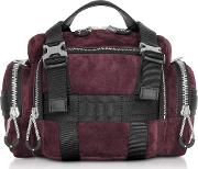 Burgundy Suede Surplus Duffle Bag
