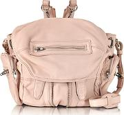 Mini Marti Pale Pink Washed Leather Backpack