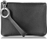 Riot Black Refined Pebble Leather Pouch