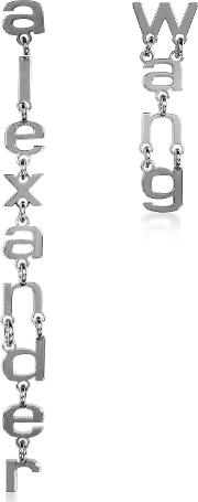 Small Letters Signature Earrings