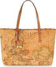 1a Prima Classe Geo Printed Large 'new Basic' Tote Bag