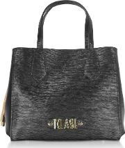 Black Alegria Smile Satchel Bag