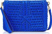 Electric Blue Calf Leather The Neeson Cross Body