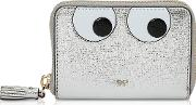 Silver Eyes Small Zip Around Wallet