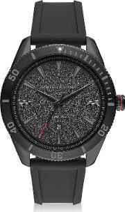 Enzo Black Silicone Men's Watch
