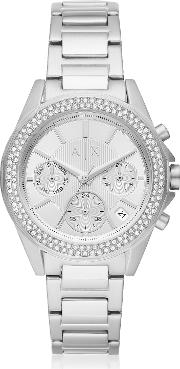 Lady Drexler Stainless Steel Chronograph Watch