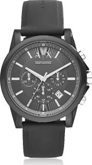 Outerbanks Black Silicone Men's Chronograph Watch