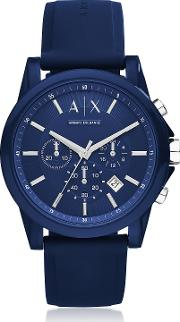 Outerbanks Blue Silicone Men's Chronograph Watch